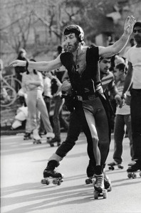 Lezly Ziering at the Skate Circle. Early 1980s